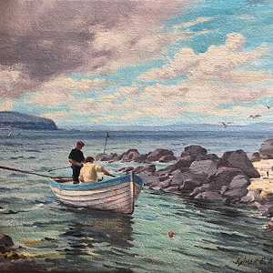 The Salmon Boat At Portstewart