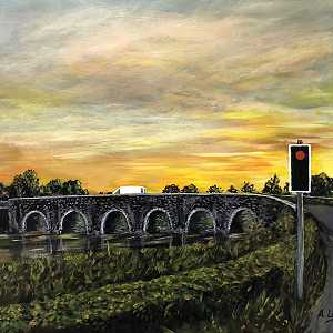 Sunrise at the Bann Bridge