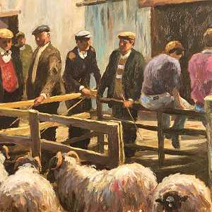 The sheep sales Cushendall