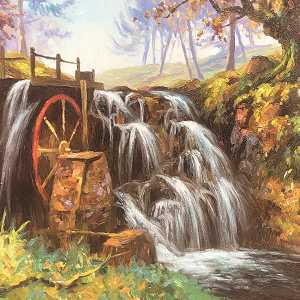 The Old Water Wheel Glenariff  ( Co Antrim )