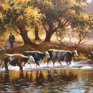 Moving the cattle over the river dunn