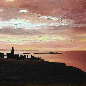Dawn at Dunluce